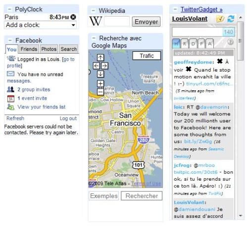 Google Gmail Gadgets