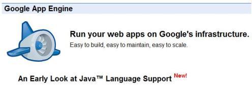 Google rajoute le Java à Google App Engine