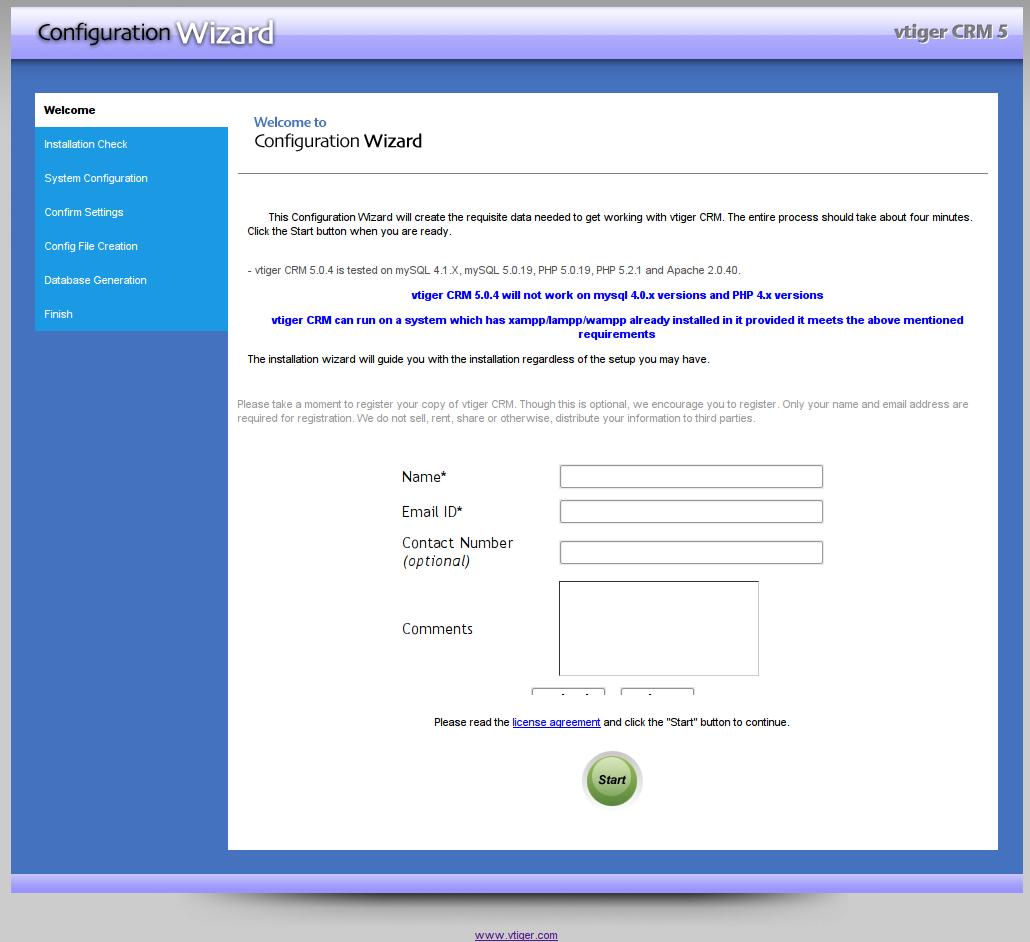 Installation de VTigerCRM : les différentes étapes