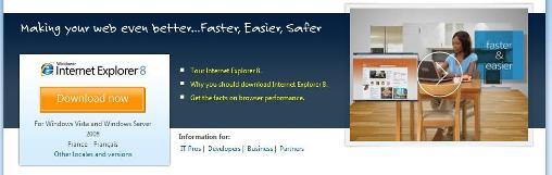 Internet Explorer 8 est sortit !