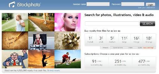 iStockPhoto le portail de vente de ses productions artistiques