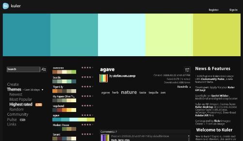 Kuler un service Adobe pour choisir vos couleurs