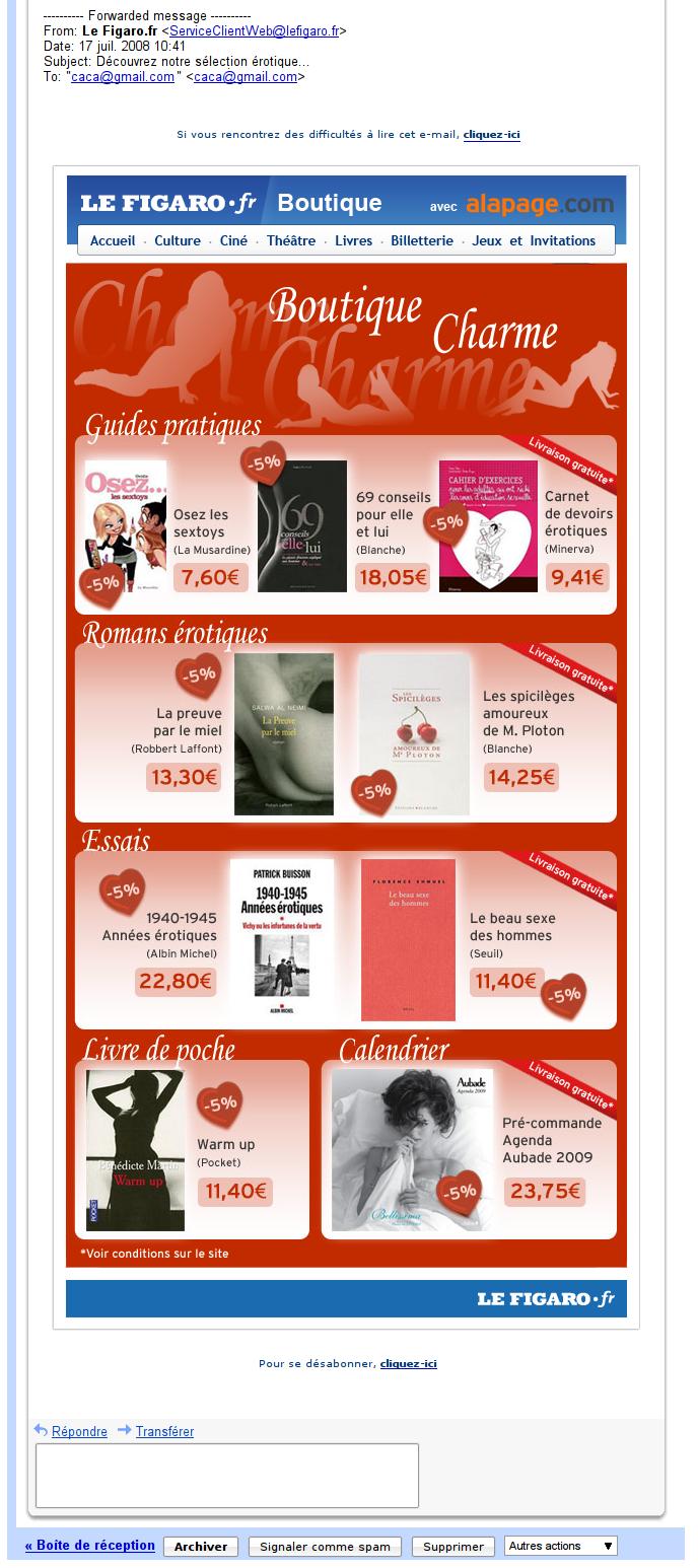 LeFigaro.fr ouvre sa boutique erotique !