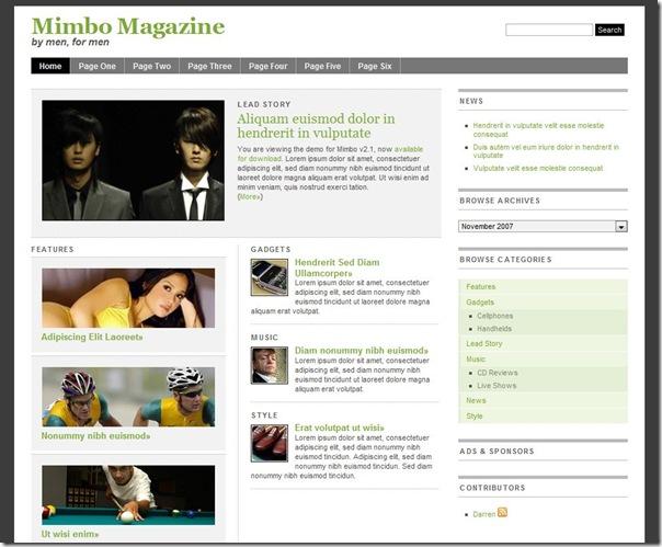 Thème Magazine Mimbo 2