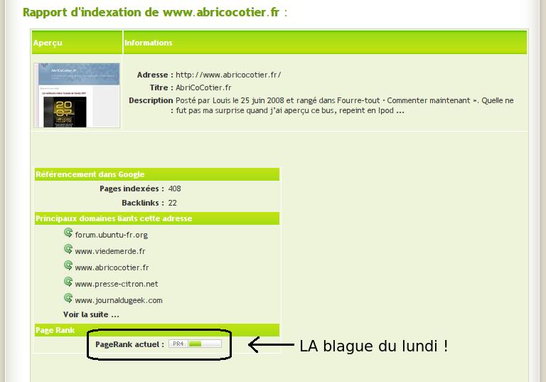 PageRank d'AbriCoCotier