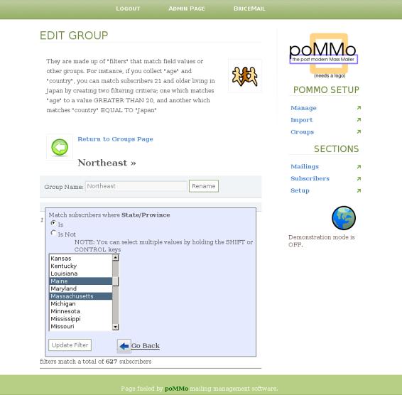 poMMo projet libre de mailing lists