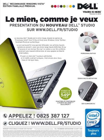 Publicité Dell : le détail qui tue !