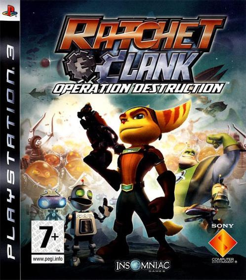 Jaquette Ratchet et Clank Opération Destruction