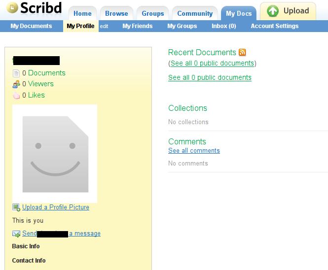 Scibd Interface utilisateur