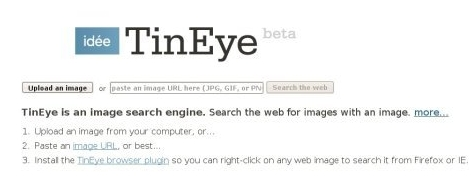 TinEye recherche comparative d'image