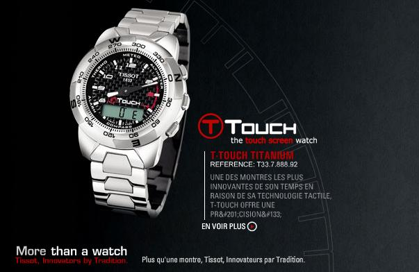 Tissot touch screen watch