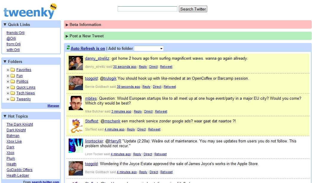 Tweenky : Gmail Like Twitter tool !