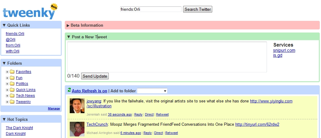 Tweenky : Gmail Like Twitter tool !