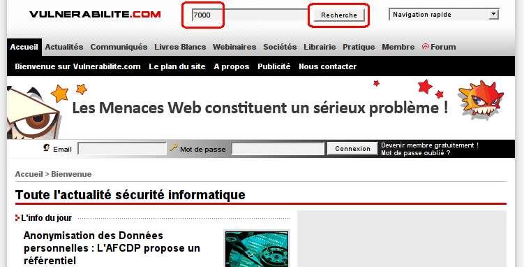 Accueil Vurlnerabilite.com