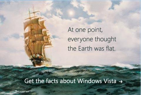 Publicité Windows Vista : Earth Flat