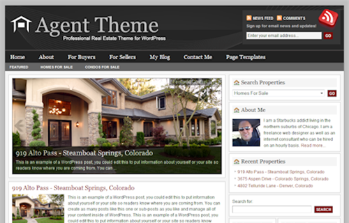 Thème WordPress Agent 1.0