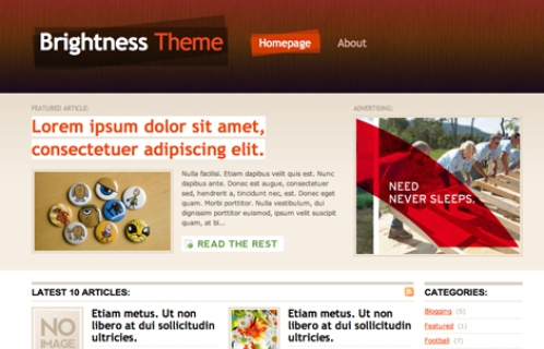 Thème WordPress Brightness package