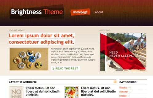 Thème WordPress Brightness package