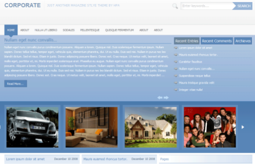 Thème WordPress Corporate 1.0