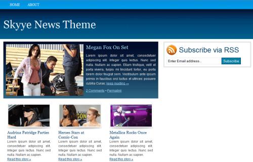Thème WordPress Skyye News