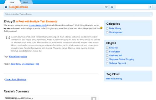 Thème WordPress Chrome 1.0 FR