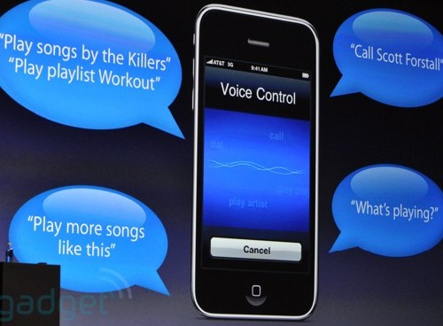 iPhones controle par la voix