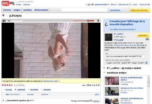 Youtube complètement retourne avec RickRoll 3D